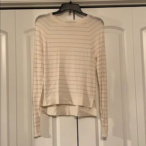 Loft striped long sleeve top/thin sweater.